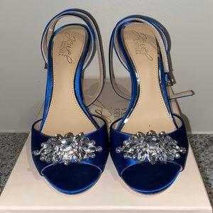 LIKE NEW Badgley Mischka Blue High Heels Sz 7.5